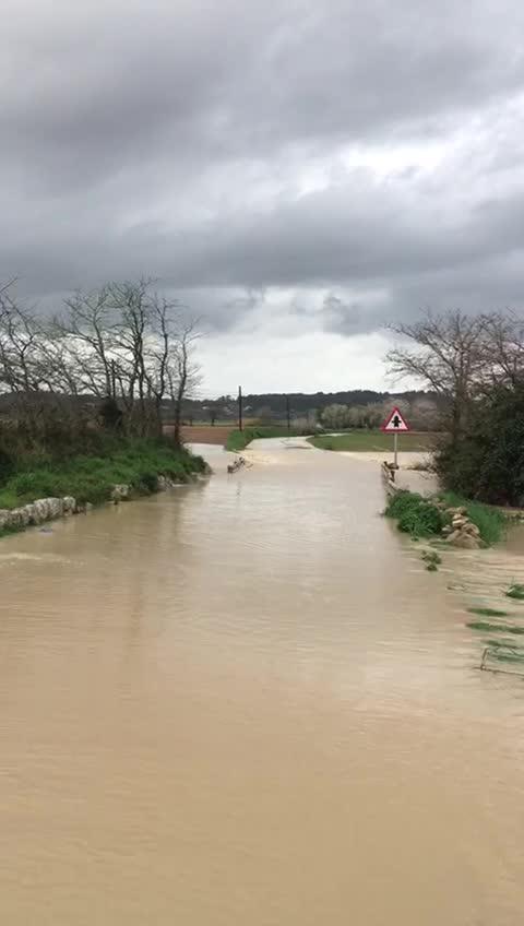 Caos circulatorio en Mallorca por las lluvias de las últimas horas