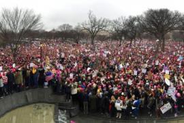 Miles de mujeres de todo el mundo marchan en protesta contra Trump