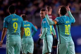 Messi, Suárez y Neymar resuelven con goleada la prueba de Eibar