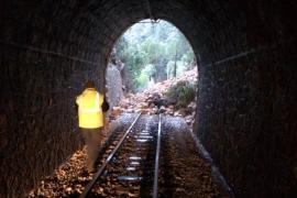 Desprendimientos en las vías del tren de Sóller