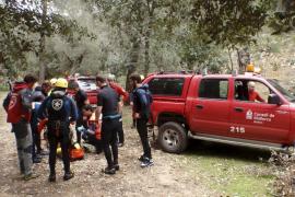 Rescate de urgencia en el torrente de Coanegra