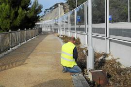 Roban cinco kilómetros de cobre del alumbrado público del paseo de la Costa de la Calma
