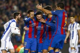 El Barcelona accede a semifinales tras golear a la Real Sociedad
