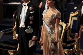 Sweden's King Carl XVI Gustaf and Crown Princess Victoria attend 2010 Nobel Prize ceremony at Concert Hall in Stockholm