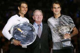 La final del Abierto de Australia entre Nadal y Federer, en imágenes