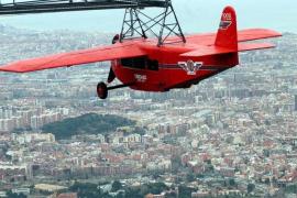 El emblemático avión del Tibidabo, desmontado para su rehabilitación