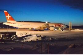 Aterriza de emergencia un avión de Swiss en Canadá a 32 grados bajo cero