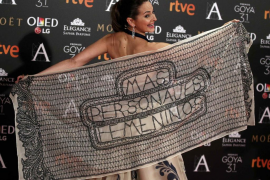 Actrices y cineastas españolas 'toman' la alfombra roja para reivindicar «más papeles femeninos»