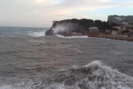 El viento golpea el Port de Sóller