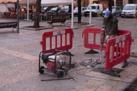 Cort emprende obras de reparación de plazas y calles del centro de Palma