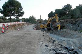 Reclaman la «inmediata apertura» de la carretera que une Felanitx y Porto Colom