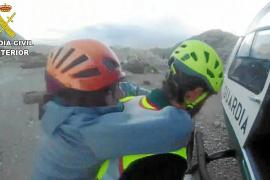 Rescatan a una pareja que subió al Massanella para festejar San Valentín