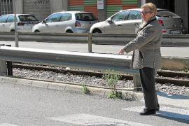 Una mujer atropellada reclama a Cort un badén para evitar más accidentes