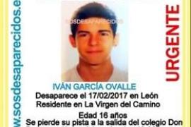 Hallan el cadáver del joven de 16 años desaparecido en León