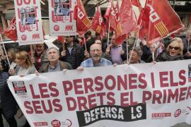 Manifestación sindicalista en Palma para exigir aumentos salariales