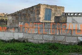 Aparece una pintada en Santa Margalida que reivindica a Rafel Garau, el socio asesinado de March