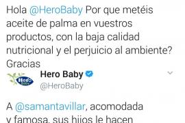 La marca Hero y la periodista Samanta Villar, a la gresca en Twitter