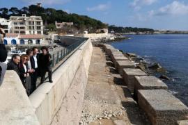 Las obras de reparación del dique de Cala Rajada finalizarán en abril