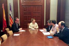 Salom trata con el alcalde de sa Pobla las operaciones antidroga efectuadas en el municipio