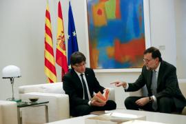 Rajoy y Puigdemont se reunieron en Moncloa el pasado 11 de enero
