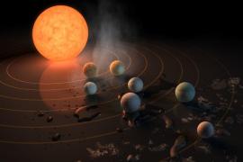 Hallan siete planetas similares a la Tierra, tres de ellos con posibilidad de albergar océanos