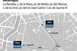 Cortes en el tráfico y restricciones para aparcar en el centro de Palma con motivo de Sa Rua y Sa Rueta