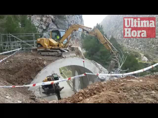 La carretera entre Andratx y Estellencs se abrirá al tráfico en dos semanas