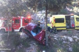 Aparatoso accidente en la carretera de Lluc