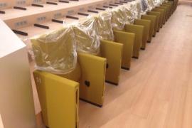 Empieza la instalación de las 2.453 butacas del Palacio de Congresos