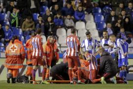 Torres sufre un traumatismo craneoencefálico a causa de un golpe durante el encuentro en Riazor