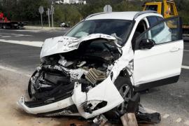 Varios heridos, uno de ellos grave, tras un accidente de tráfico en la carretera de Sóller