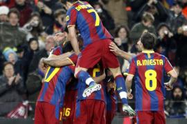 Dos goles de Pedro y poco fútbol del Barça