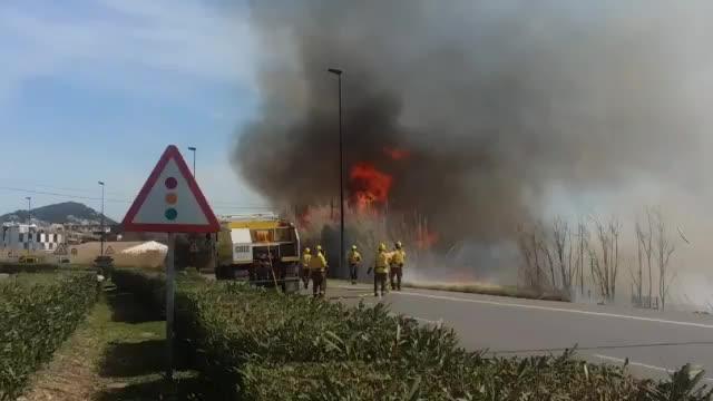 Un incendio causa la alarma en la ciudad de Ibiza