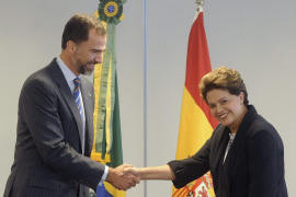 Rousseff y el príncipe Felipe coinciden en ampliar la presencia económica española