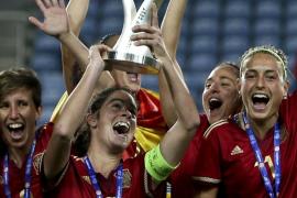 La selección española, campeona de la Copa Algarve