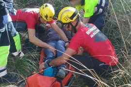 Rescatada una mujer con una pierna rota cerca del refugio de Muleta