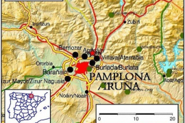 Registrado un terremoto de magnitud 4 al norte de Pamplona