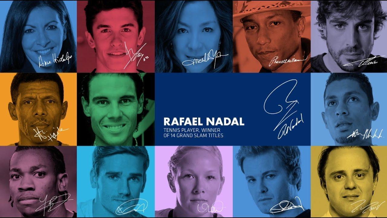 Lanzan una campaña mundial de seguridad vial con Nadal y otros 12 deportistas