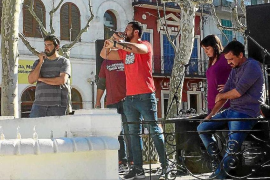 Diada en Sa Pobla a favor de Valtonyc y la libertad de expresión
