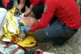 Herido un hombre al caer de una altura de 4 metros en Alaró