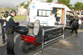 Hospitalizado un motorista tras ser arrollado en la rotonda del cementerio de Palma