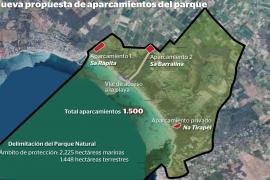 Medi Ambient propone mantener el parking privado de es Trenc dentro del futuro parque