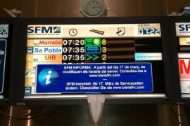 Los trabajadores de SFM alertan de que el Govern busca «reducir drásticamente» las frecuencias de tren y metro