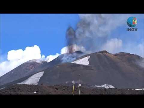 Diez personas resultan heridas tras una explosión volcánica en el Etna