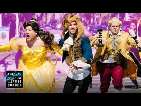 James Corden y los protagonistas de 'La Bella y la Bestia' sacan el musical a las calles de Los Ángeles