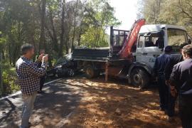 Hospitalizada una conductora embarazada tras colisionar contra un camión en Puigpunyent