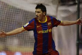 Villa abre la lata y el Barcelona golea otra vez