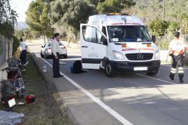 En estado crítico un motorista que se accidentó entre Marratxí y Bunyola