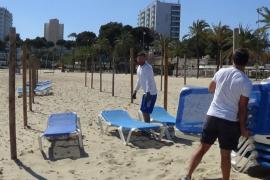 Las playas de Calvià ya cuentan con hamacas, sombrillas y pasarelas para los turistas
