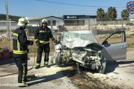 Un herido grave al sufrir un accidente de tráfico en Felanitx